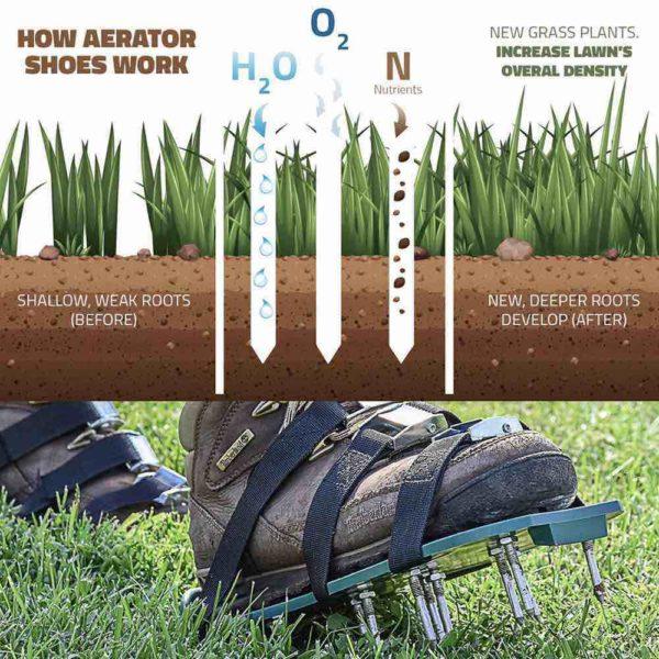 yard aerator shoes