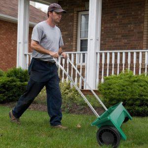 buy fertilizer spreader walk behind usa